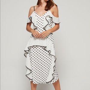 Black and white polka dot Adelyn Rae dress NWT